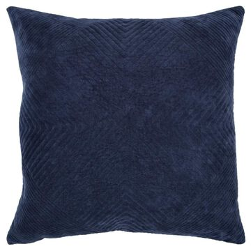 Rizzy Home Donny Osmond 20-in x 20-in Navy 100% Cotton Indoor Decorative Pillow in Blue   DOHT13883IN002020