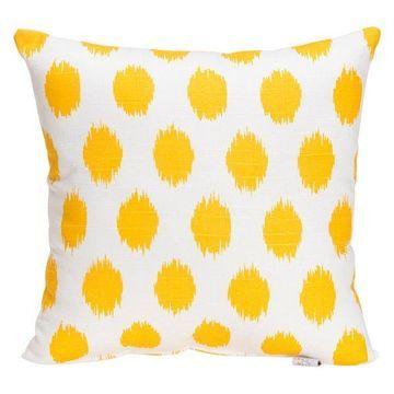 Swizzle Yellow Dot Pillow