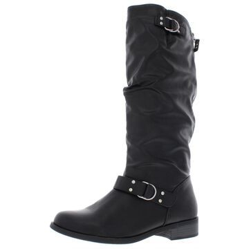 XOXO Womens Minkler Wide Calf Faux Leather Riding Boots