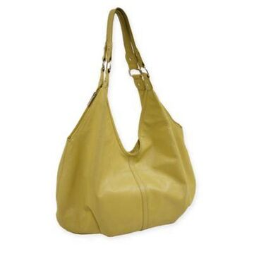 Piel Leather 19-Inch Hobo Bag in Yellow