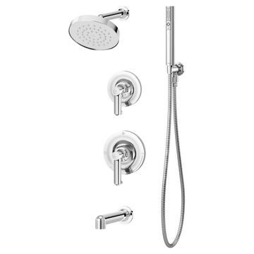 Symmons Museo Polished Chrome 2-Handle Bathtub and Shower Faucet (Valve Not Included) | 5306-1.5-TRM