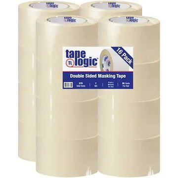 Tape Logic Double Sided Masking Tape, 7 Mil, 3 x 36 yds, Tan, 16/Case (T958100) | Quill