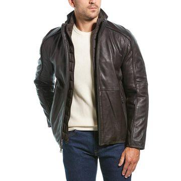 Marc New York Mens Hartz Leather Jacket
