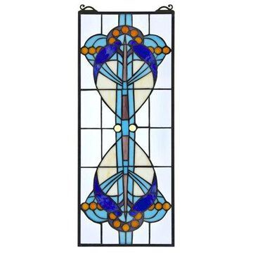 Design Toscano Bauhaus Modern Tiffany-Style Stained Glass Window