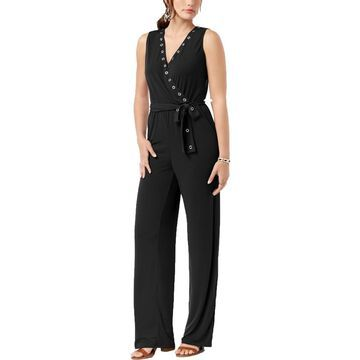 NY Collection Womens Petites Party Sleeveless Jumpsuit