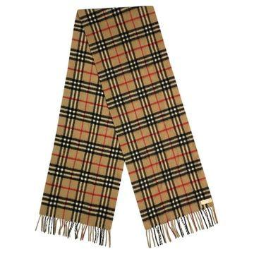 Vintage Burberry Beige Cashmere Scarves