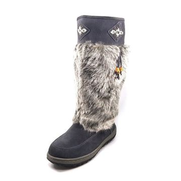 Wanderlust Womens Nika Suede Closed Toe Knee High Cold Weather Boots