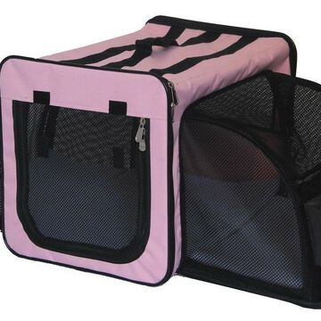Pet Life H5PKMD Capacious Dual Expandable Wire Dog Crate Pink - Medium