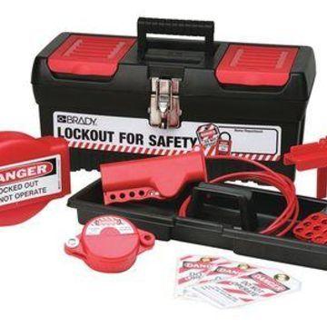BRADY 105957 Portable LockoutKit,Blk,Electrical/Valve