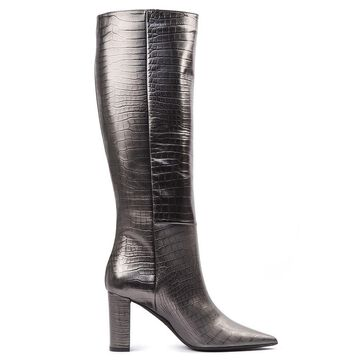 Marc Ellis Lead Color Scaled Leather Boots