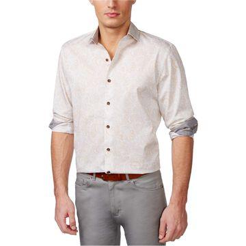 Tasso Elba Mens Paisley Button Up Shirt