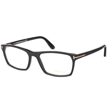 Tom Ford Rectangle FT 5295 002 Unisex Matte Black Frame Eyeglasses