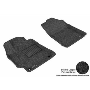 3D MAXpider 2015-2017 Toyota Camry Front Row All Weather Floor Liners in Black Carpet