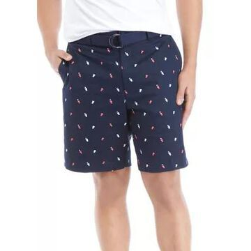 Savane Men's Beer Pong Printed Twill Shorts -