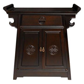 Oriental Furniture Rosewood Altar Cabinet