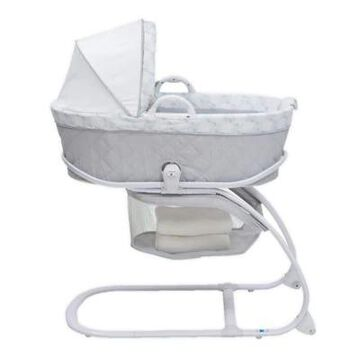 Delta Children Deluxe Moses Bassinet In Windmill Grey/blue