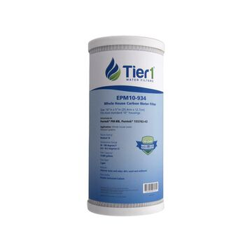 Tier1 Replacement for Pentek EPM-BB 10 Micron 10 x 4.5 Carbon Block Water Filter 12 Pack