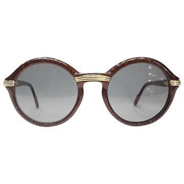 Vintage Cartier Brown Plastic Sunglasses