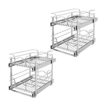 Rev-A-Shelf 5WB2 Series Wire Organizer for 24 x 20.5 Inch Cabinets (2 Pack)
