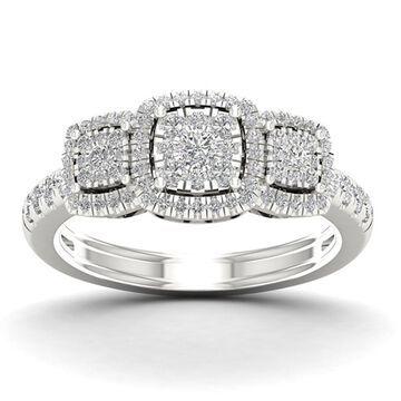 De Couer 1/2ct TDW Diamond Cluster Ring - White