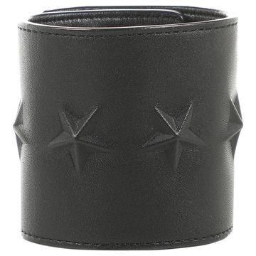 Givenchy Black Leather Bracelets