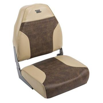 Wise 8WD588PLS-662 Standard High Back Boat Seat, Sand / Brown
