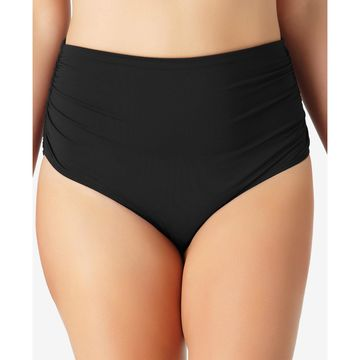 Plus Size Live In Color High-Waist Swim Bottoms