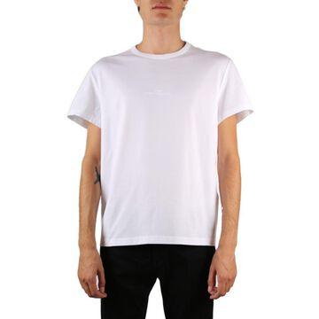 Maison Margiela White Cotton T-shirt With Upside Down Logo