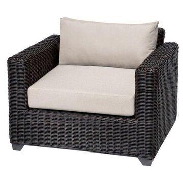 TK Classics Venice Outdoor Wicker Club Chair, Beige