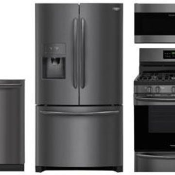 Frigidaire Gallery Black Stainless Steel Kitchen Package With Gas Range