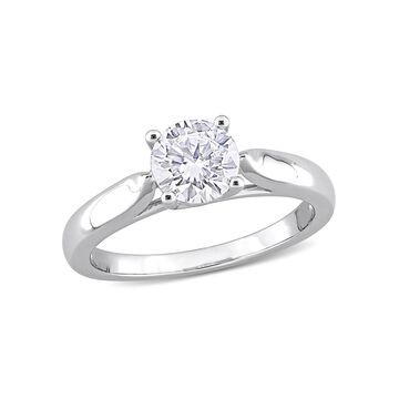 1 Carat T.G.W. Moissanite Sterling Silver Solitaire Engagement Ring
