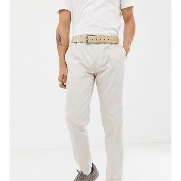 Noak skinny fit suit pants in stone