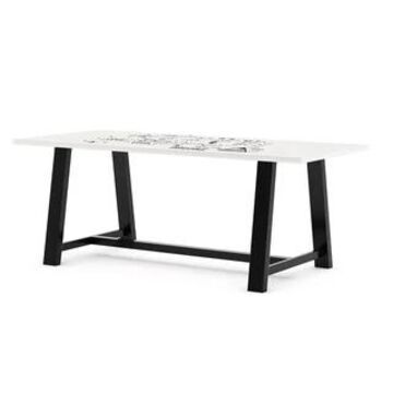 """KFI Whiteboard Conference Table, Trestle Base (84"""" W x 42"""" D x 30"""" H)"""