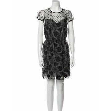 Printed Mini Dress w/ Tags Black