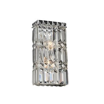 Allegri 035020010FR001 Two Light Wall Sconce Rettangolo Chrome - One Size (Clear - One Size)