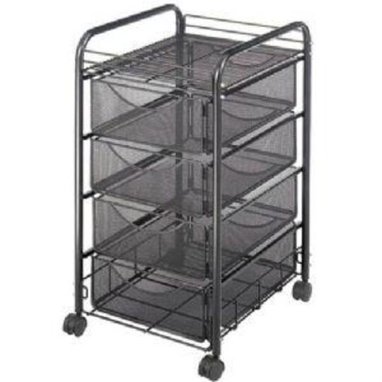 Onyx  Mesh File Cart with 4 Drawers