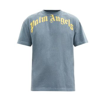 Palm Angels - Logo-print Cotton-jersey T-shirt - Mens - Navy