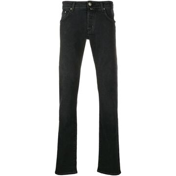 mid rise straight-leg jeans