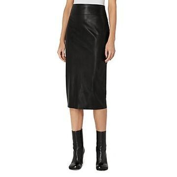 Enza Costa Faux Leather Pencil Skirt