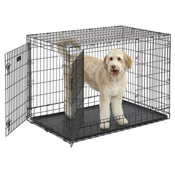 """Midwest Ultima Pro Double Door Dog Crate, 48"""" L X 30"""" W X 35"""" H, XX-Large, Black"""