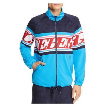 ICEBERG Mens Blue Printed Zip Up Jacket S