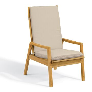 Oxford Garden Siena Natural Shorea Reclining Armchair with Camel Polyester Cushion