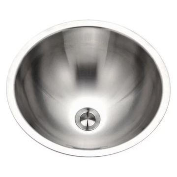 Houzer CRO-1620-1 Opus Conical Stainless Steel Lavatory Sink w/ Overfl