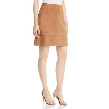 Elie Tahari Womens Lexie Lamb Suede Mini Pencil Skirt