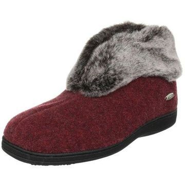 ''ACORN Womens Faux Chinchilla 11043 Bootie,Crackleberry,8-9 M US''