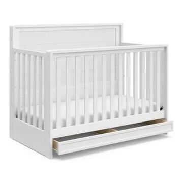 Storkcraft Luna 4-in-1 Convertible Crib with Drawer (White)