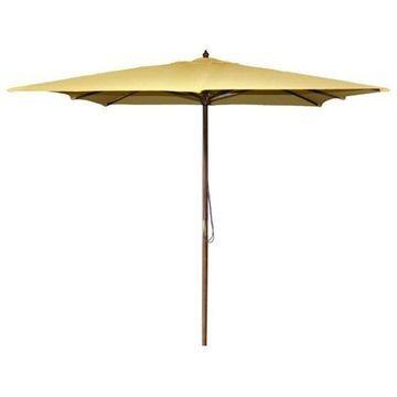 Jordan Manufacturing 8.5' Square Wooden Umbrella, Yellow