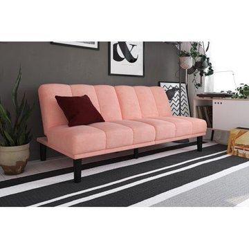 Mainstays Channel Cushion Futon, Pink