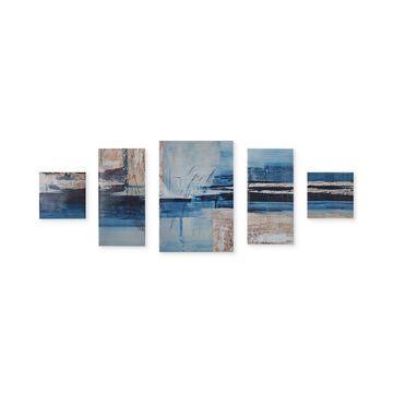 Madison Park Overseas 5-Pc. Gel-Coated Canvas Print Set
