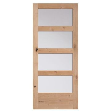 Masonite Unfinished Wood Knotty Alder Barn Door (Common: 36-in x 84-in; Actual: 36-in x 84-in)